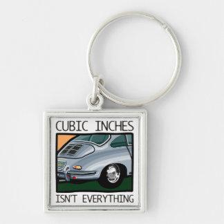 Klassikerbil: Luft-kylde än kubik356 mer flytta Fyrkantig Silverfärgad Nyckelring