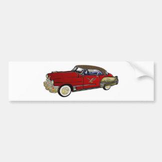 Klassikerbil med bästa läder bildekal