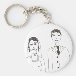Klassikerbröllop Rund Nyckelring