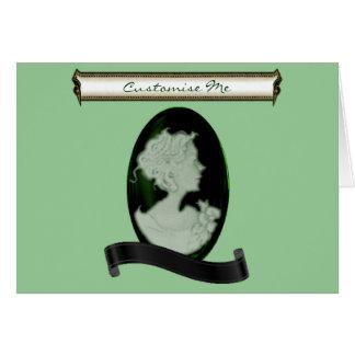 KlassikerCameo (Jade/grönt) Hälsningskort
