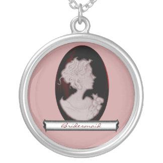 KlassikerCameo (steg) (bröllop) Silverpläterat Halsband