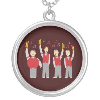 Klassikerfrisersalongkvartett Silverpläterat Halsband