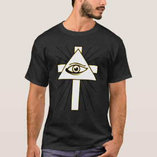Klassikergult all seende Illuminati T-shirt