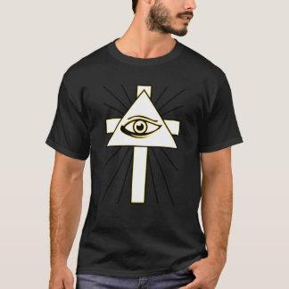Klassikergult all seende Illuminati Tee Shirts