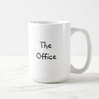 """Klassikerkaffemugg med """"kontoret """", vit mugg"""