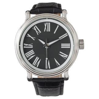 Klassikerklocka i svartvitt armbandsur
