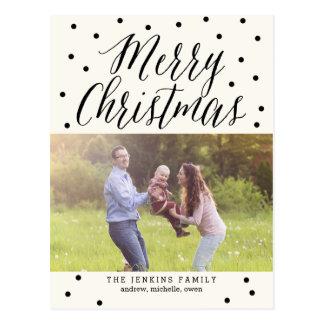Klassikern pricker vykortet för julfotokortet vykort
