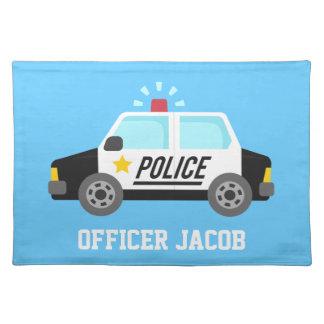 Klassikerpolisbil med siren för pojkar bordstablett