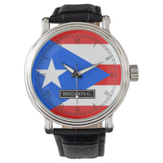 KlassikerPuerto Rican flagga Armbandsur