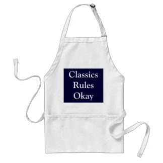 Klassikerregler godkänner förkläde
