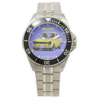 Klassikerrostfritt stål med rostfritt stålklockan armbandsur