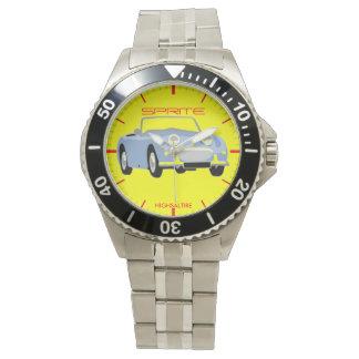 Klassikerrostfritt stålklocka, rostfritt stål armbandsur