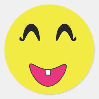 Klassikerrundaklistermärke/Emoticons Runt Klistermärke