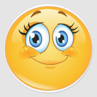 Klassikerrundaklistermärke, glansig SMILL Runt Klistermärke