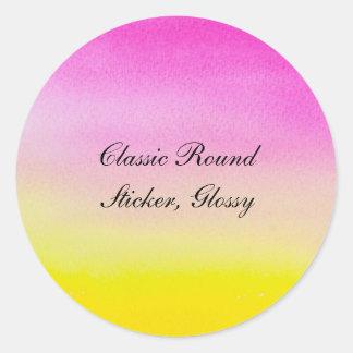 Klassikerrundaklistermärke som är glansig runt klistermärke