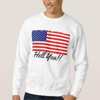 Klassikerskjorta med patriotisk flagga och långärmad tröja
