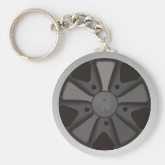 Klassikersportbiltävla rullar använt på 911 rund nyckelring