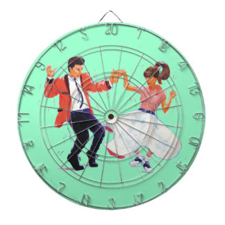 Klassikersten - och - rulle Jive danssadeln skor Darttavla
