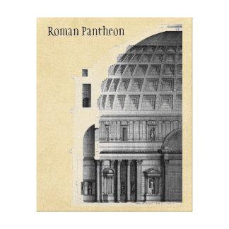 Klassisk arkitektur för romersk Pantheon Canvastryck