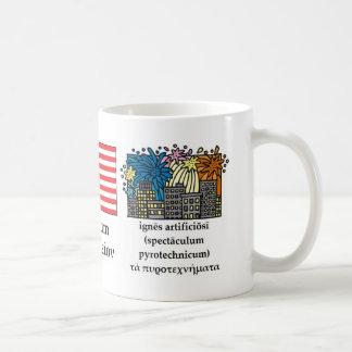 Klassisk Fourth av den Juli muggen Kaffemugg