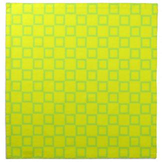 Klassisk grön servett för gult och för mint