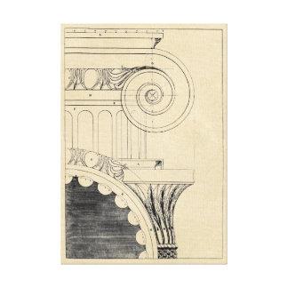Klassisk Ionic kolonnhuvudstad Canvastryck