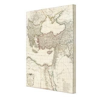 Klassisk karta av Rome Canvastryck