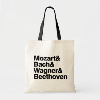 Klassisk musik - kompositörer sätter band roligt h budget tygkasse