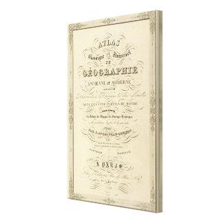 Klassisk och universell geografi för titelsidakart canvastryck