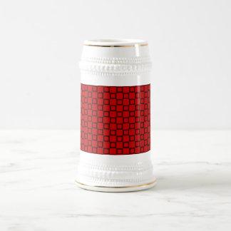 Klassisk röd och svart Stein mugg