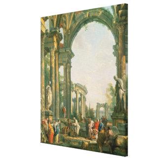 Klassiskt fördärvar, det 18th århundradet canvastryck