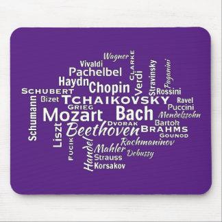Klassiskt kompositörordmoln musmatta