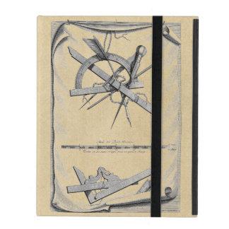 Klassiskt räcka skissningverktyg iPad fodral