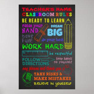 Klassrumregler - personliglärare gåva poster