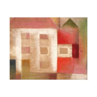 Klee - hus i förorterna canvastryck