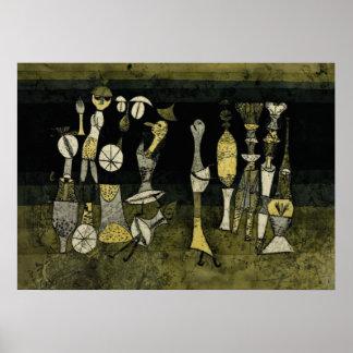 "Klee konstverk, ""komedi "", poster"