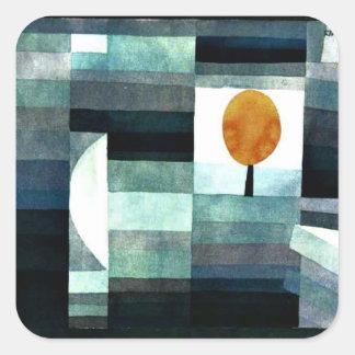 Klee - månsken fyrkantigt klistermärke