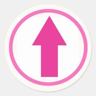 Klibba det till påverkan - rosa runt klistermärke