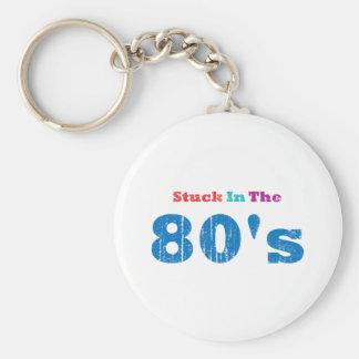 Klibbat i 80-tal rund nyckelring