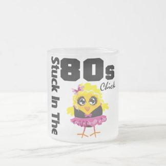 Klibbat i 80-talchicken frostad glas mugg