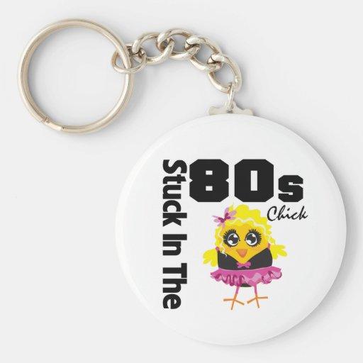 Klibbat i 80-talchicken nyckelring