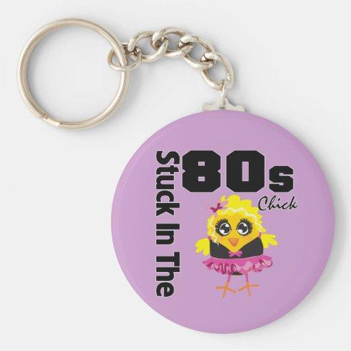 Klibbat i 80-talchicken nyckel ring