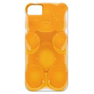 Klibbig ORANGE för björntelefonfodral iPhone 5 Skydd