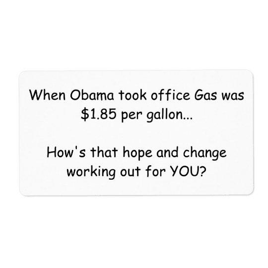 Klibbiga Obama noterar protest Fraktsedel