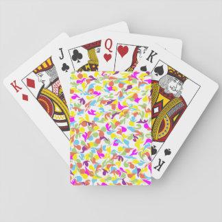 Klickar av färg på vit spel kort