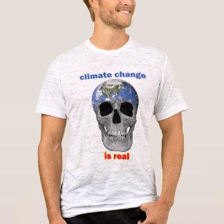 Klimatförändring är verklig manar t-skjorta tröjor