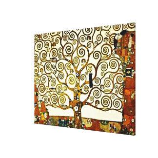 Klimt - livets träd, stocletfris canvastryck