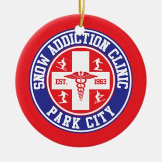 Klinik för Park City snöböjelse Julgransprydnad Keramik