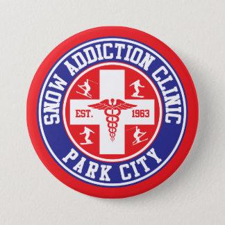 Klinik för Park City snöböjelse Mellanstor Knapp Rund 7.6 Cm
