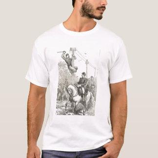 Klipp som telegrafera binder tee shirt